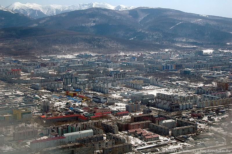 Южно-Сахалинск с высоты