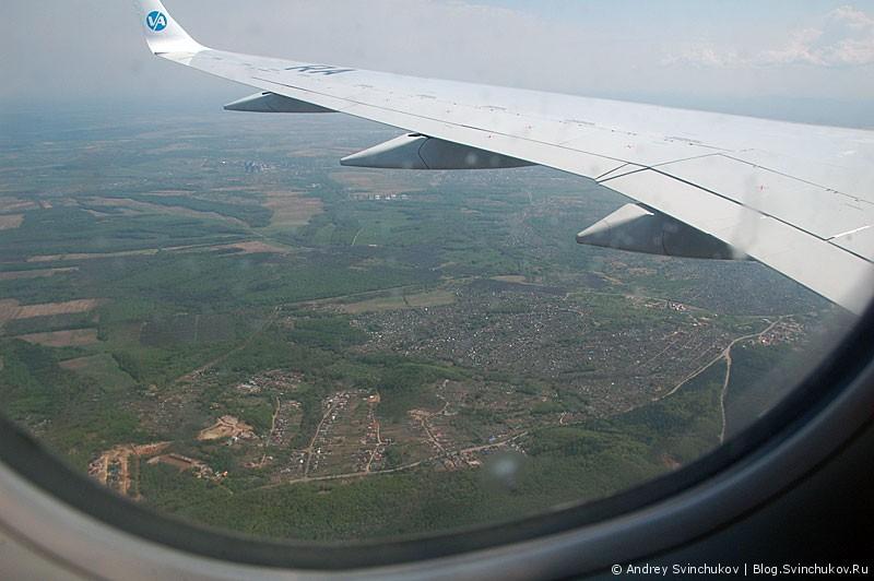 Пролетая над Хабаровском и его окрестностями