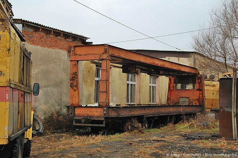 Трамвайное депо в Хабаровске