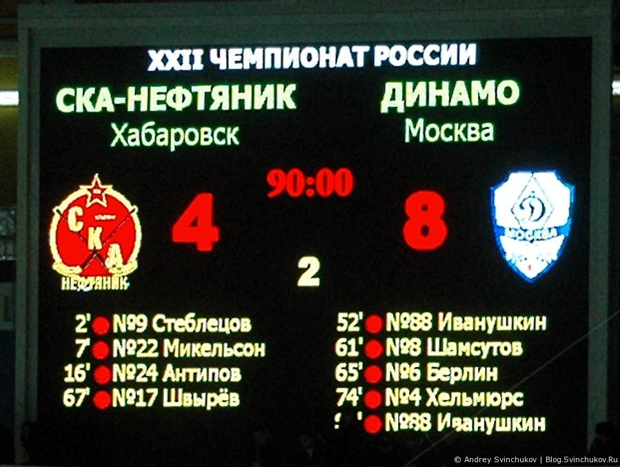 """Матч """"СКА-Нефтяник"""" - """"Динамо Москва"""""""