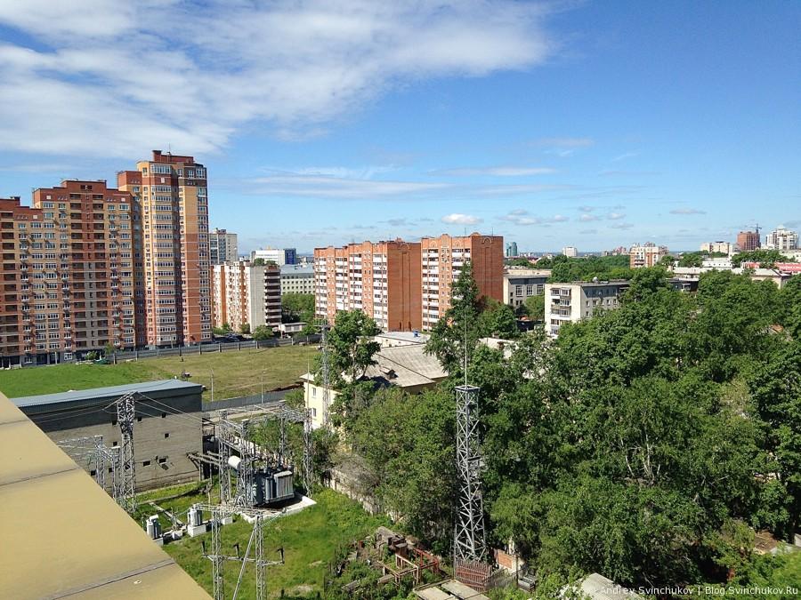 С верхних этажей офисных зданий Хабаровск
