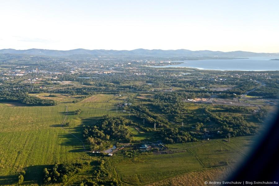 Аэропорт Владивостока и виды с высоты птичьего полета