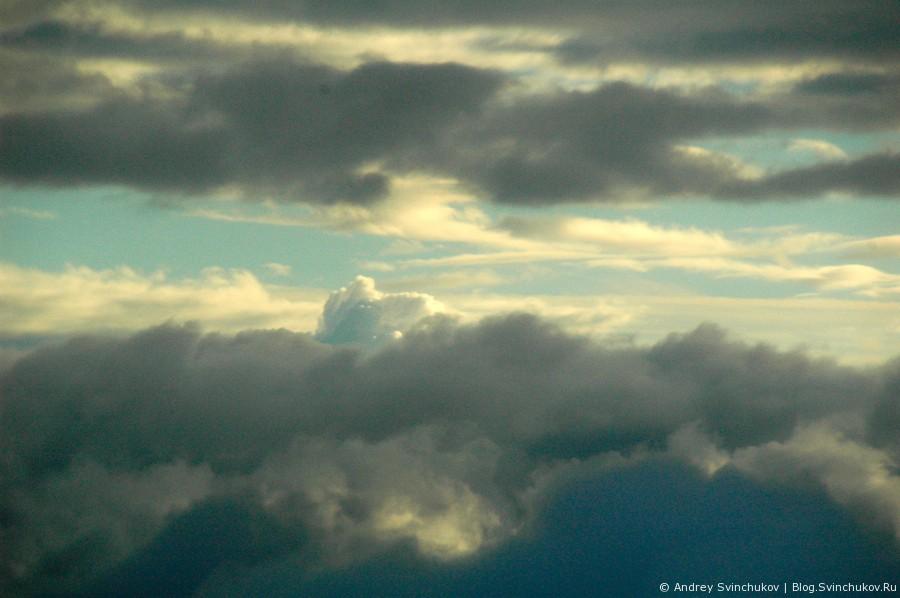 В аэропорту Домодедово и полет в облаках