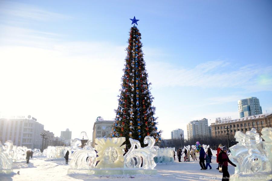 Новогодняя площадь Ленина в Хабаровске