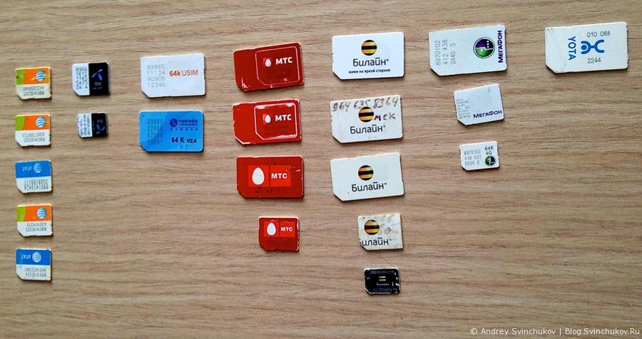 Моя небольшая коллекция SIM-карточек
