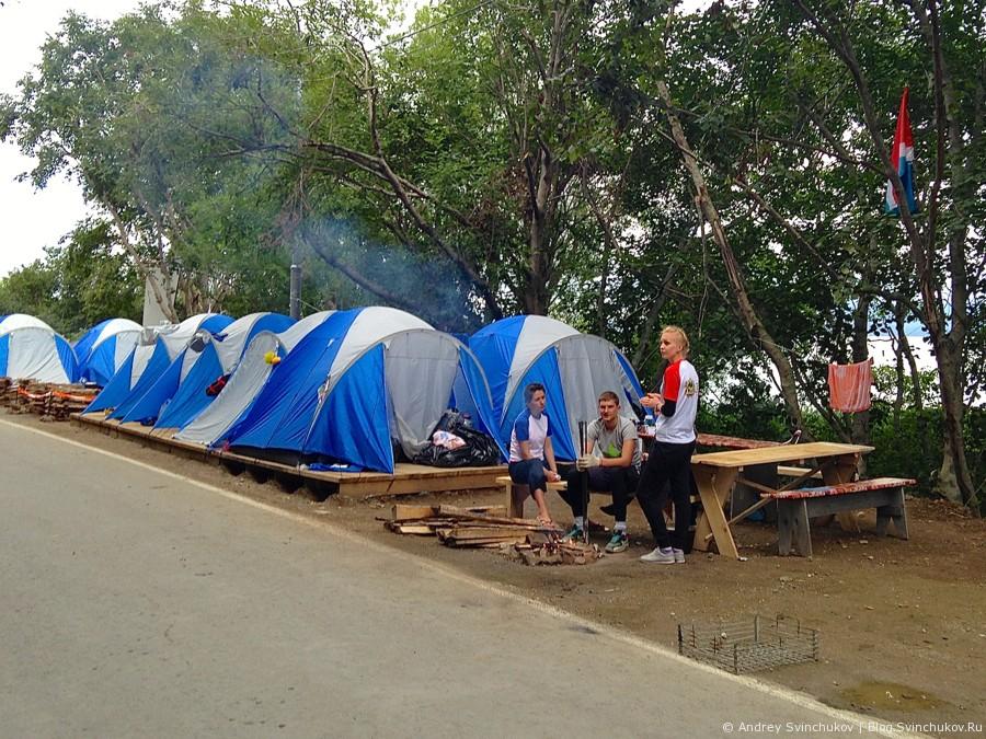 Палаточный лагерь на Сахалине