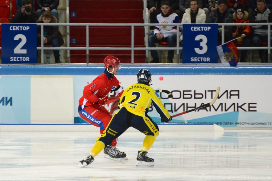 Чемпионат мира по хоккею с мячом — 2015. Матч Казахстан - Россия