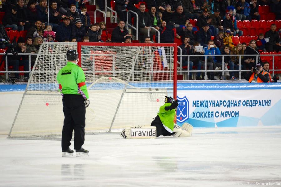 Чемпионат мира по хоккею с мячом — 2015. Матч Россия - Финляндия