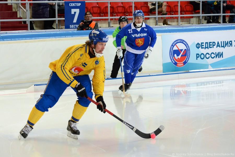 Чемпионат мира по хоккею с мячом — 2015. Матч Финляндия - Швеция