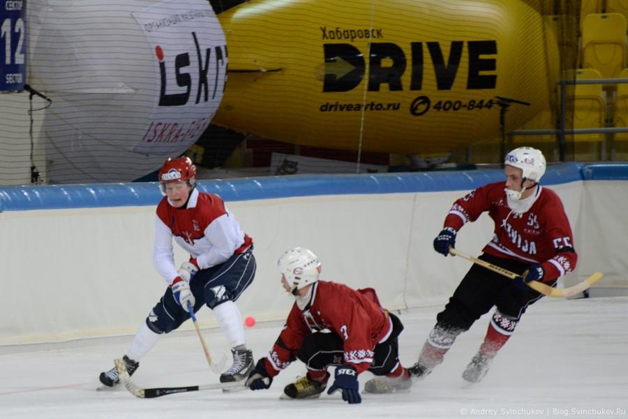 Чемпионат мира по хоккею с мячом — 2015. Матч Латвия - Норвегия