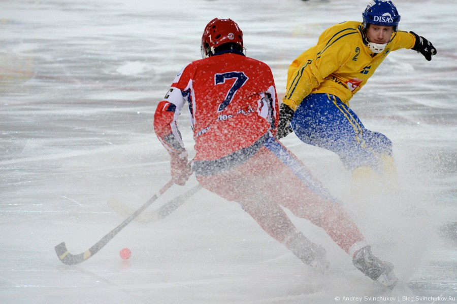 Чемпионат мира по хоккею с мячом — 2015. Матч Россия - Швеция