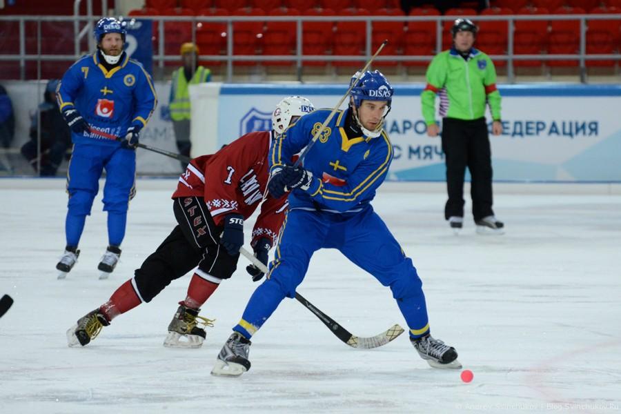 Чемпионат мира по хоккею с мячом — 2015. Матч Швеция - Латвия