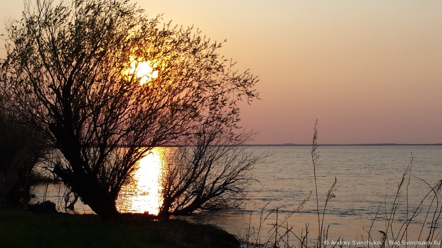 Закат над Амуром, вид с Большого Уссурийского острова