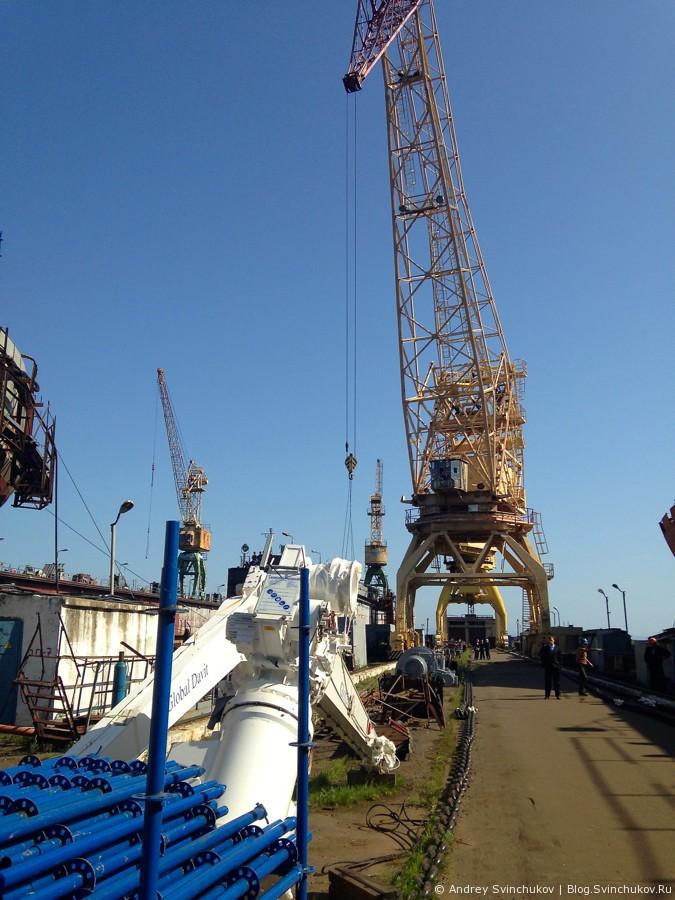 Амурский судостроительный завод в конце лета 2013-го