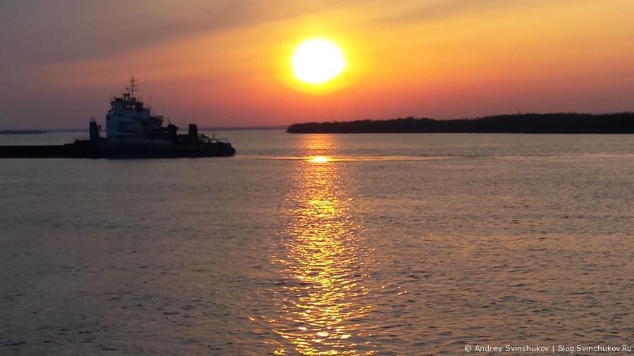 Закат над Амуром