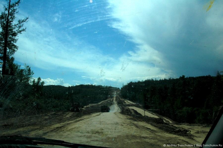 Дорога в Нилова Пустынь и горы Саяны
