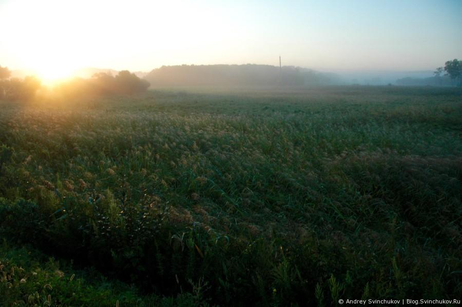 Закат в посёлке Кировский