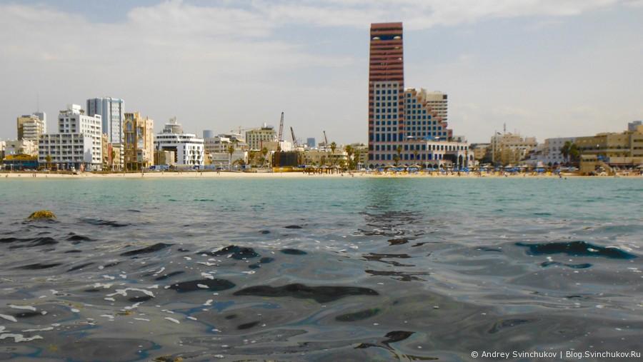 Тель-Авив возле моря и с моря