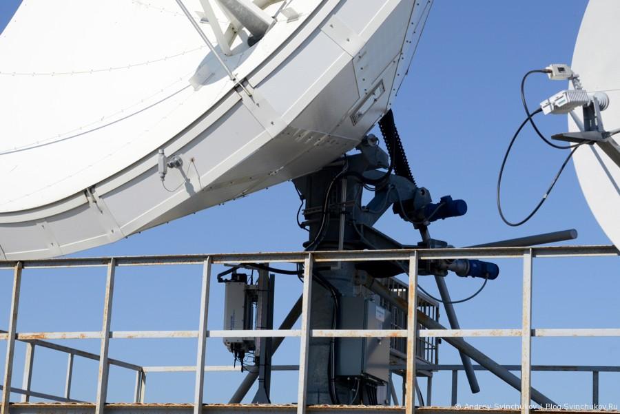 Узел спутниковой связи компании МегаФон в Петропавловске-Камчатском