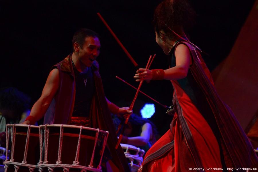 Японские барабанщики Ямато в Хабаровске