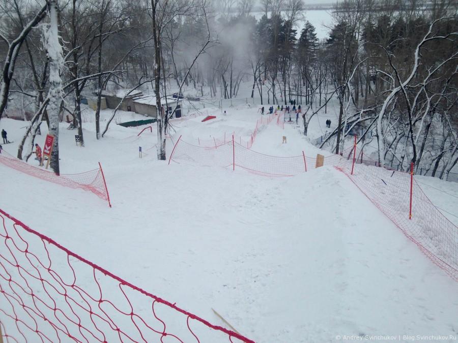 Каток и сноуборд парк на стадионе им. Ленина в Хабаровске