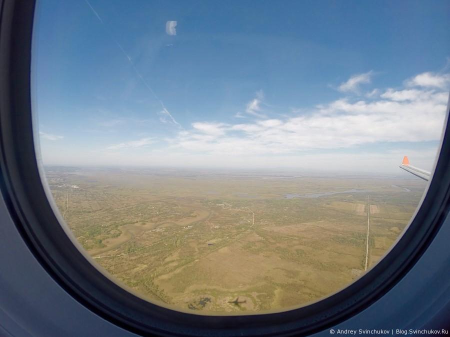 На подлете к Хабаровску