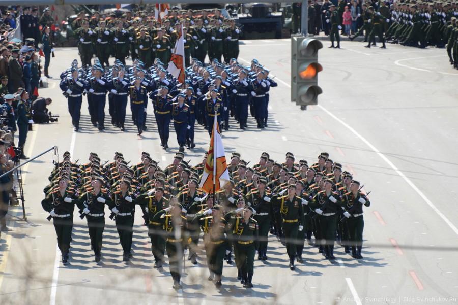 Парад Победы в Хабаровске в честь 71-й годовщины