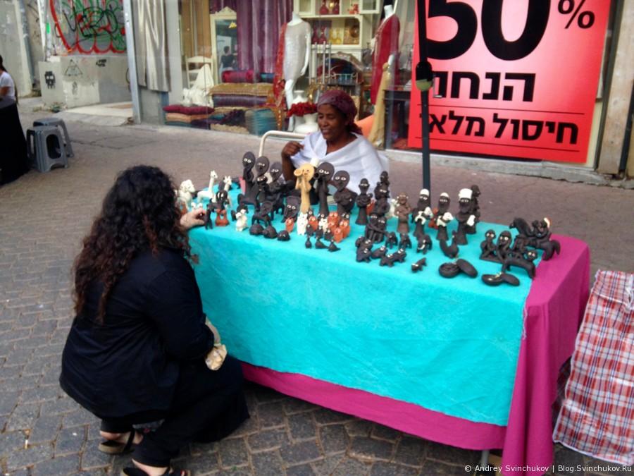 Рынок и пешеходная улица в Тель-Авиве