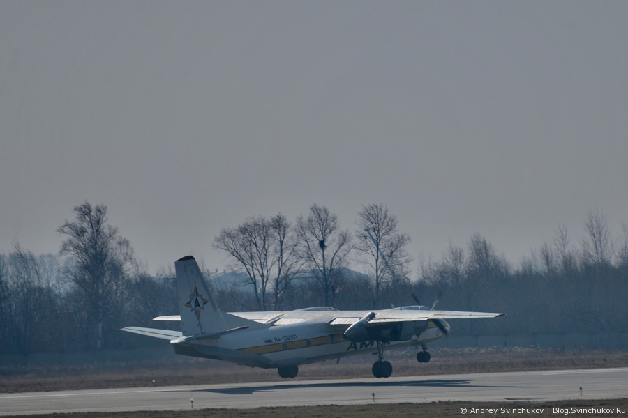 Взлеты и посадки в аэропорту Хабаровска