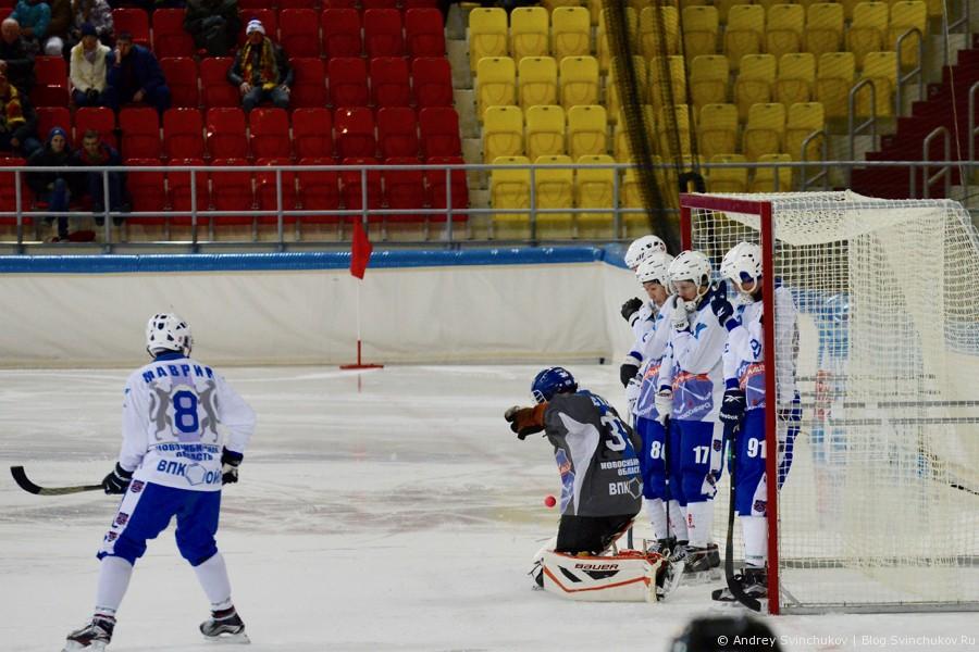 Матч 1/4 финала Чемпионата России по хоккею с мячом