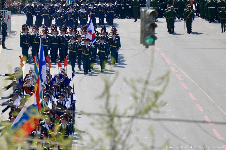 Военный парад в Хабаровске в честь 72-й годовщины окончания Великой Отечественной войны