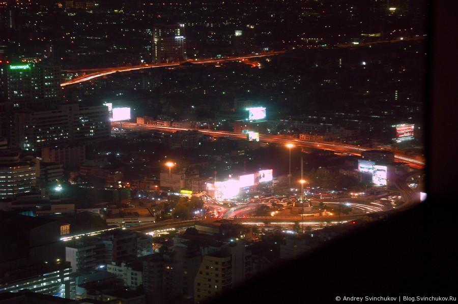 Ночной Бангкок с высотки  Baiyoke Sky Hotel