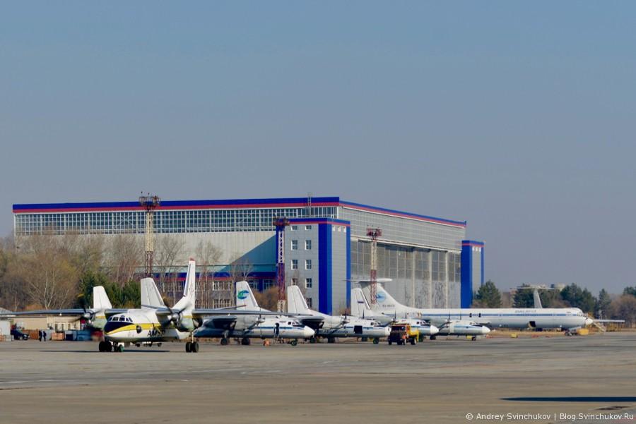 На поле аэропорта Хабаровска