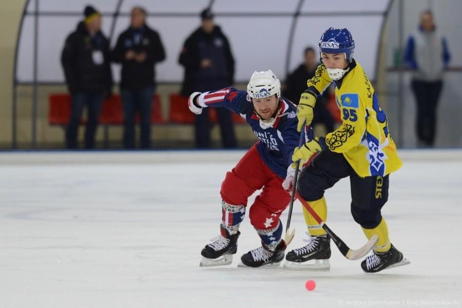 Чемпионат мира по хоккею с мячом — 2018. Матч Казахстан - США