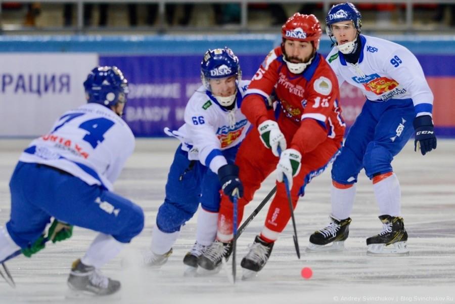 Чемпионат мира по хоккею с мячом — 2018. Матч Россия - Финляндия