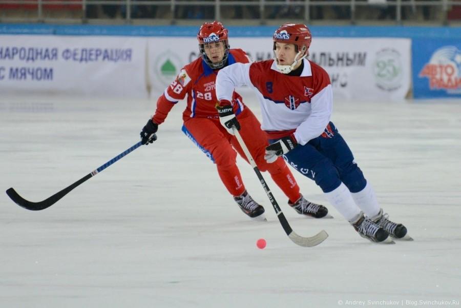 Чемпионат мира по хоккею с мячом — 2018. Матч Россия - Норвегия