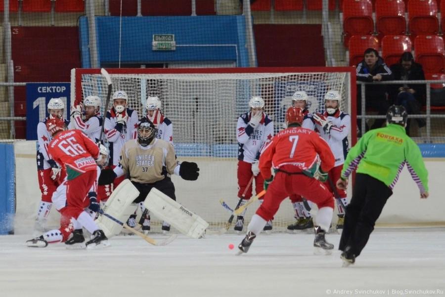 Чемпионат мира по хоккею с мячом — 2018. Матч США - Венгрия