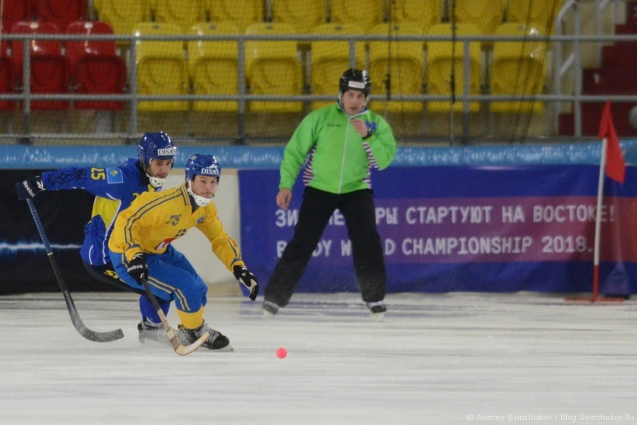 Чемпионат мира по хоккею с мячом — 2018. Полуфинальный матч Швеция - Казахстан