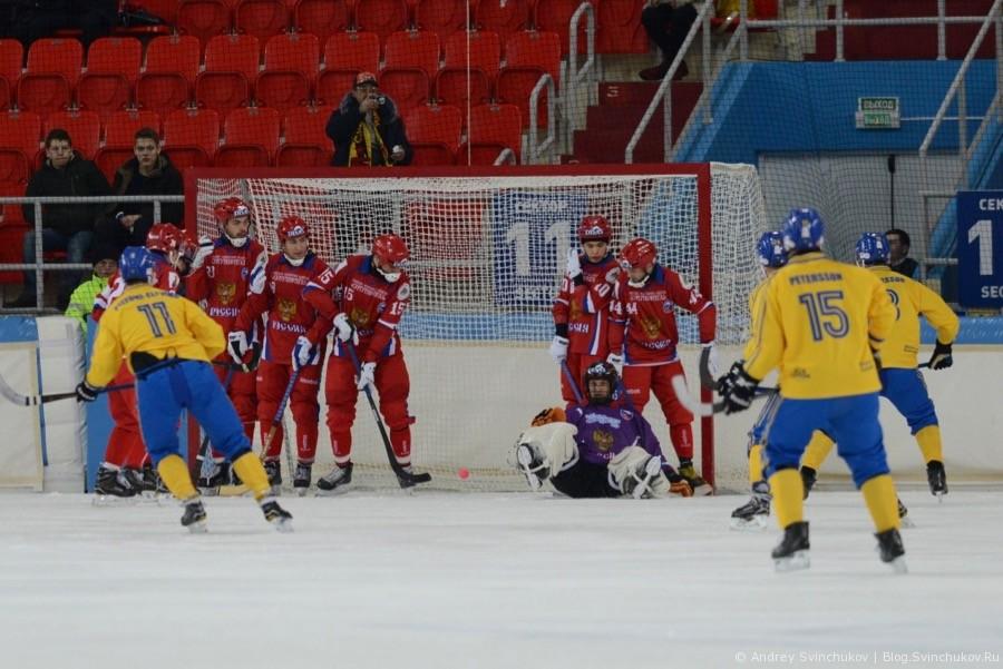 ЧМ-2018 по хоккею с мячом. Матч Швеция - Россия
