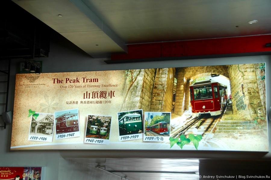 Пиковый фуникулер в Гонконге