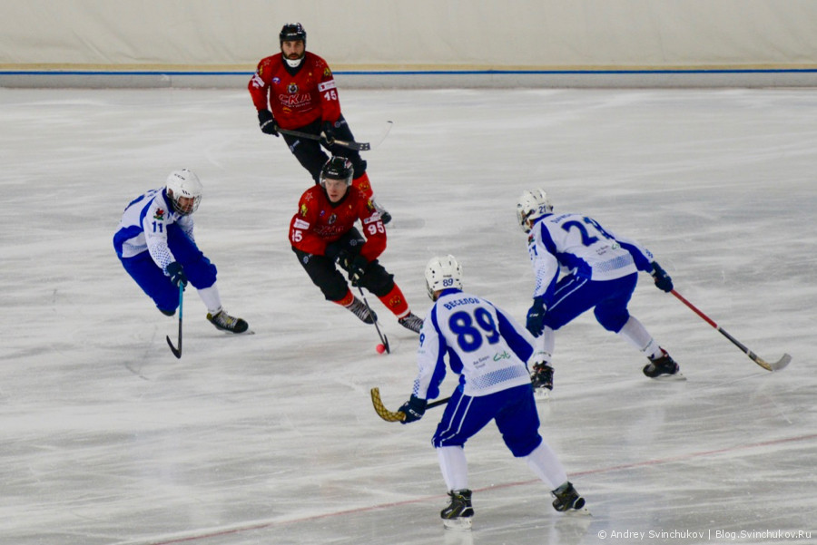 """Хоккей с мячом. Матч """"СКА-Нефтяник"""" - """"Динамо-Казань"""""""