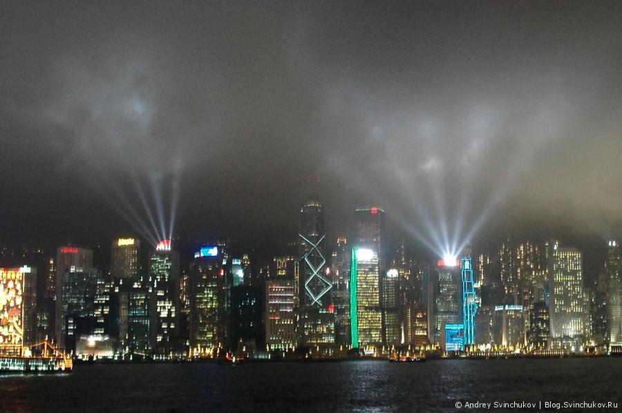 Свето-лазерное шоу в Гонконге