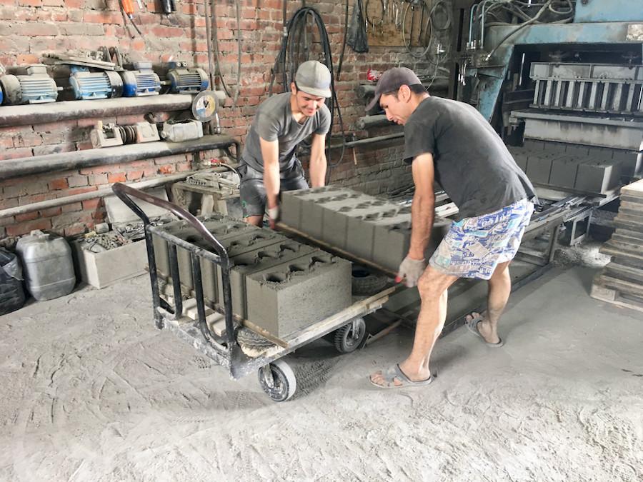 Производство отсевоблоков в Хабаровске