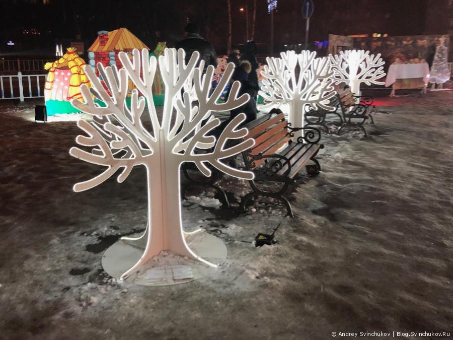 Новогодняя площадь в городе Уссурийск